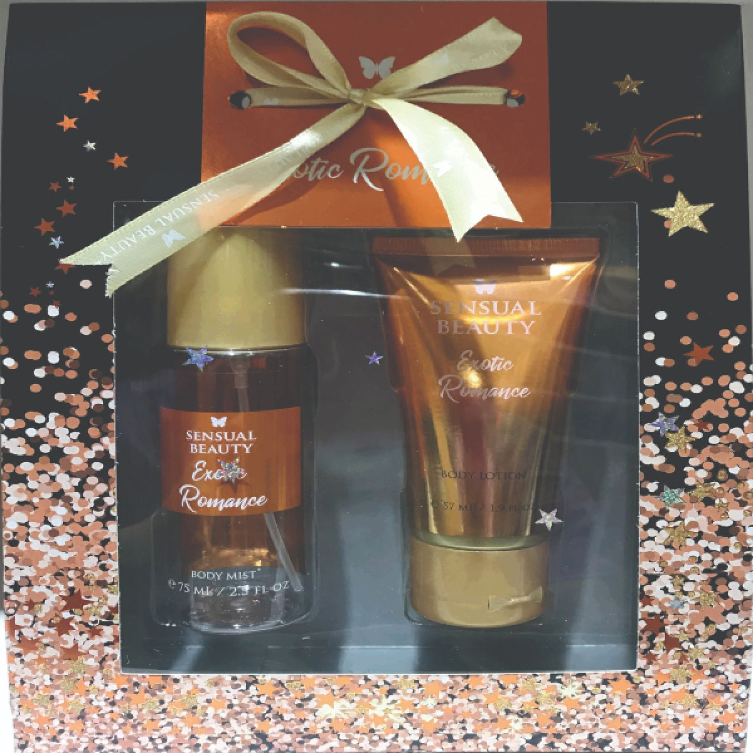 SENSUAL BEAUTY Set Bm75ml+bl57ml Exotic Romance Naranja Mujeres