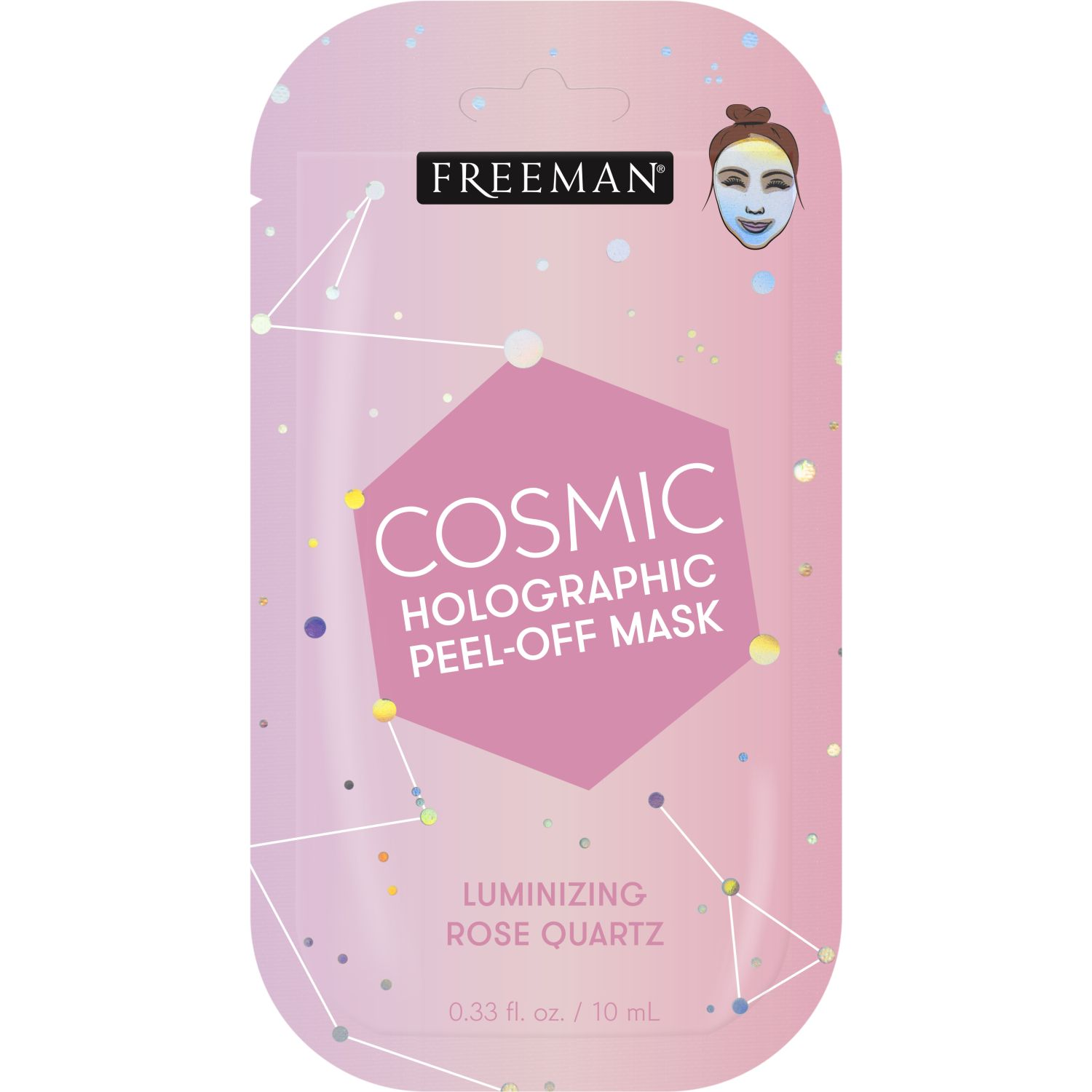 FREEMAN Mascarilla Cosmic Luminoso Peeloff Rosado Mascarillas