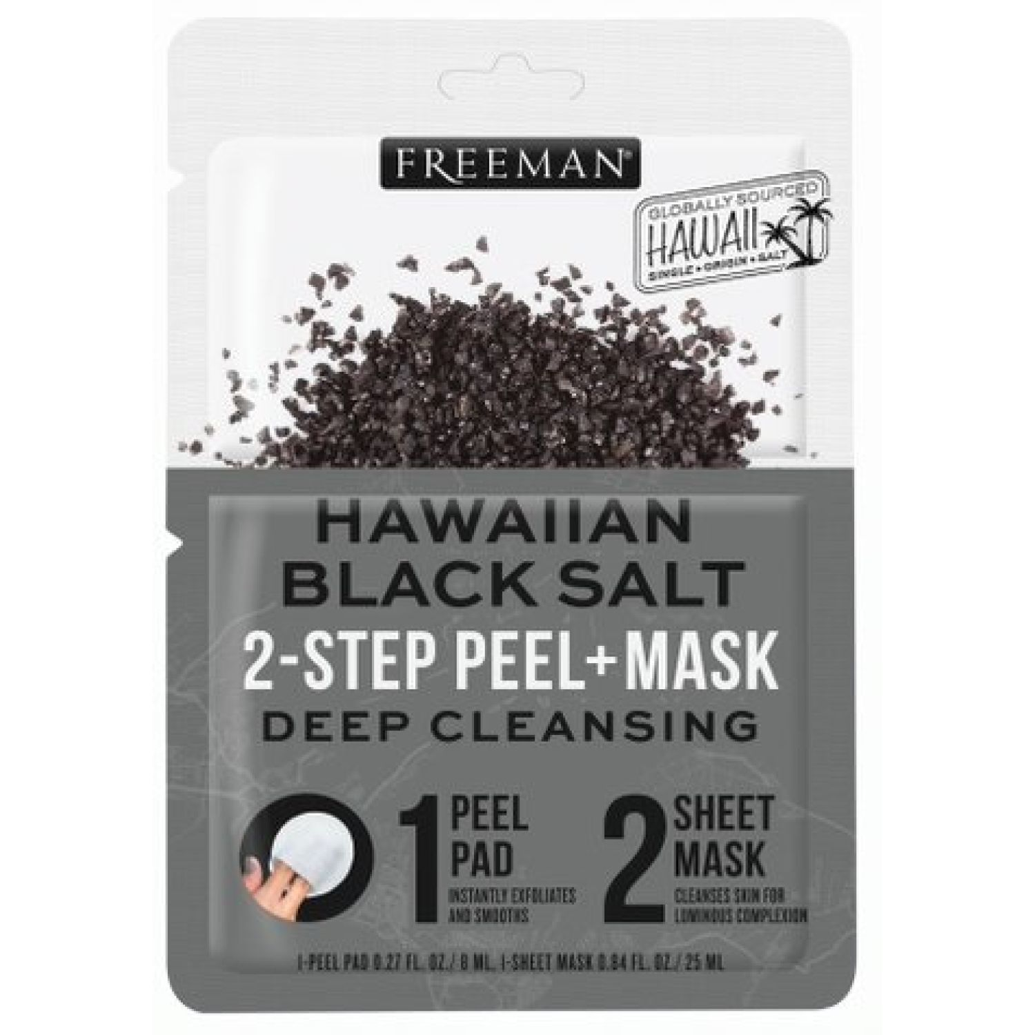 FREEMAN Mascarilla Tela Hawaiian Black Salt Blanco / negro Mascarillas
