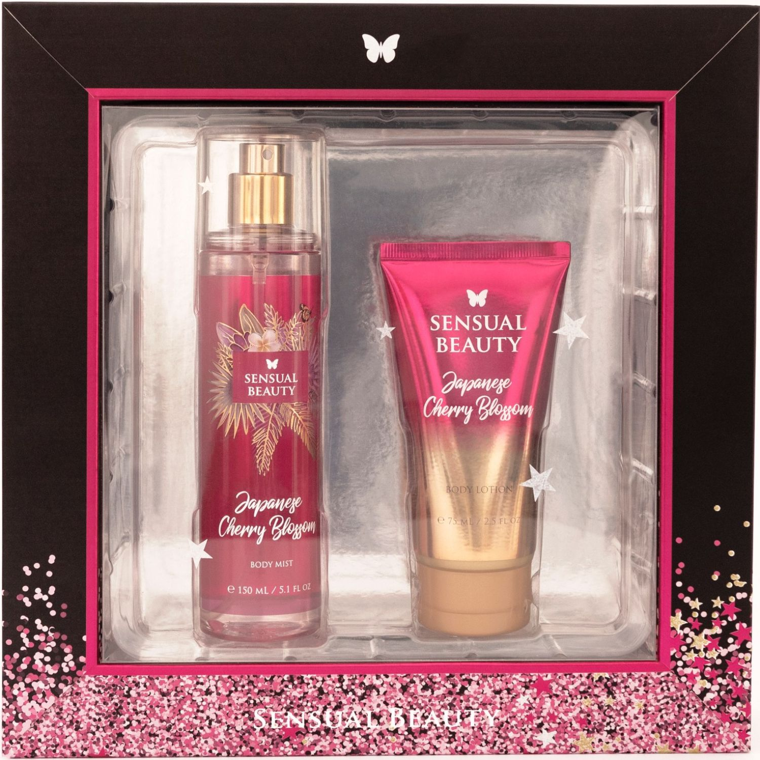 SENSUAL BEAUTY Set Bm150ml+bl75ml Japanese Ch.B. Fucsia Mujeres