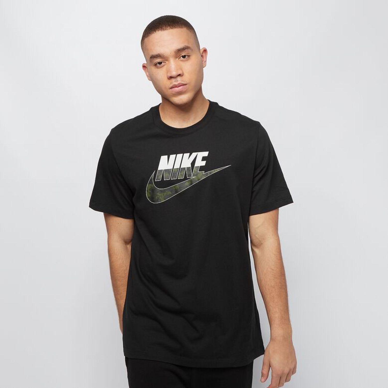 Nike M Nsw Camo Ss Tee Negro Camisetas y polos deportivos