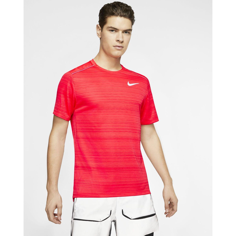 Nike M Nk Dry Miler Top Ss Rojo Camisetas y polos deportivos