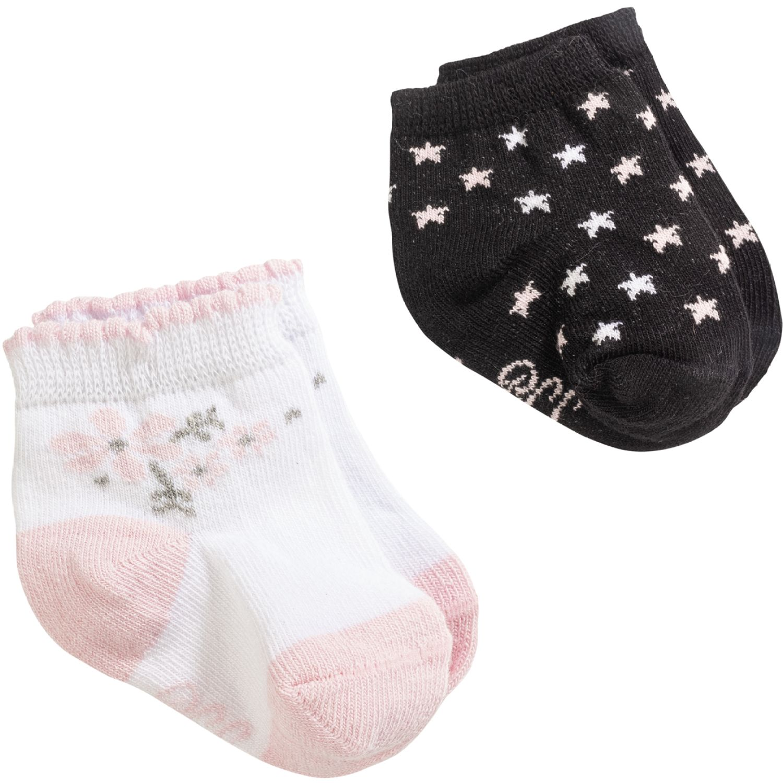 BABY CLUB CHIC Pack Diseño Estrellas Y Flores Rosado / negro Medias deportivas