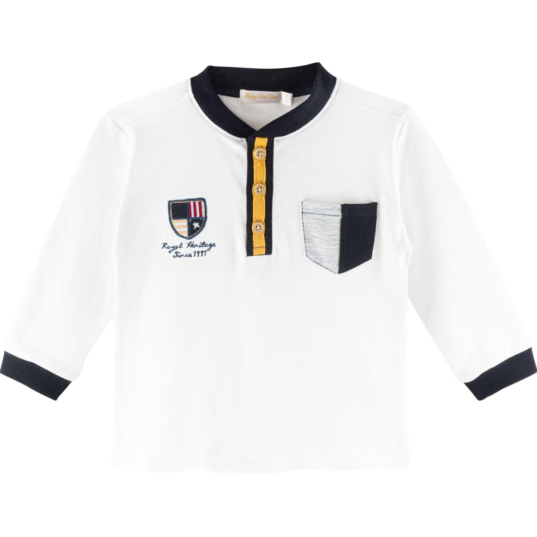 BABY CLUB CHIC Polo Cuello Nerhu C/Bord. Ind. Blanco Polos