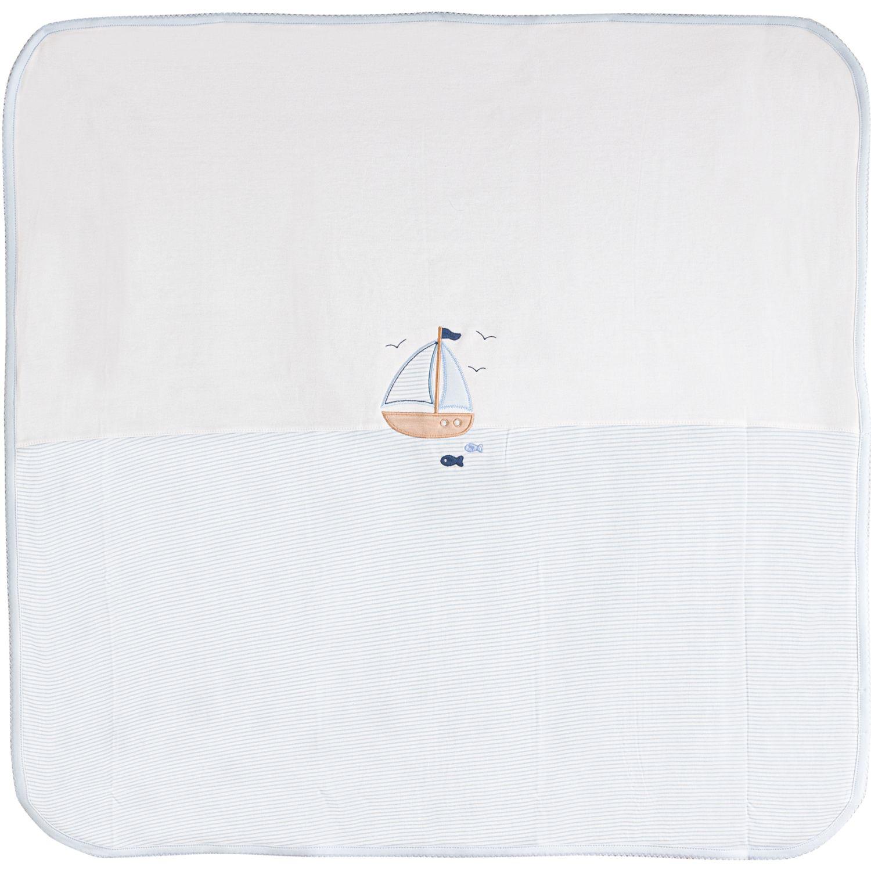 BABY CLUB CHIC Manta Dos Capas Blanco / celeste Cobijas para cama
