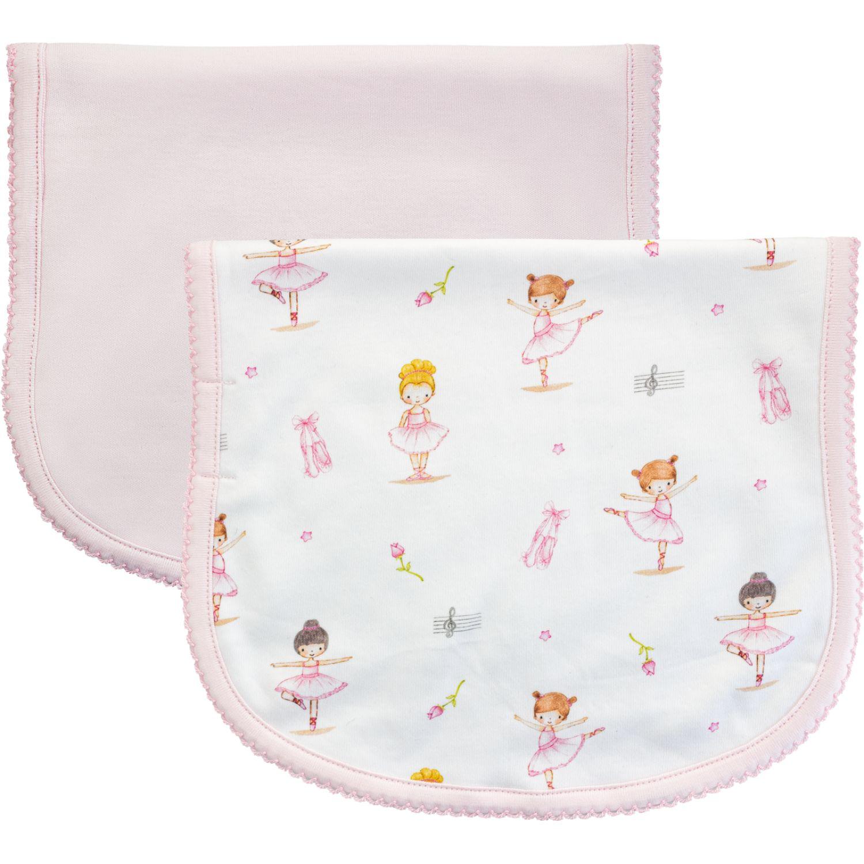 BABY CLUB CHIC Pack De 2 Babitas De Hombro Blanco / rosado baberos