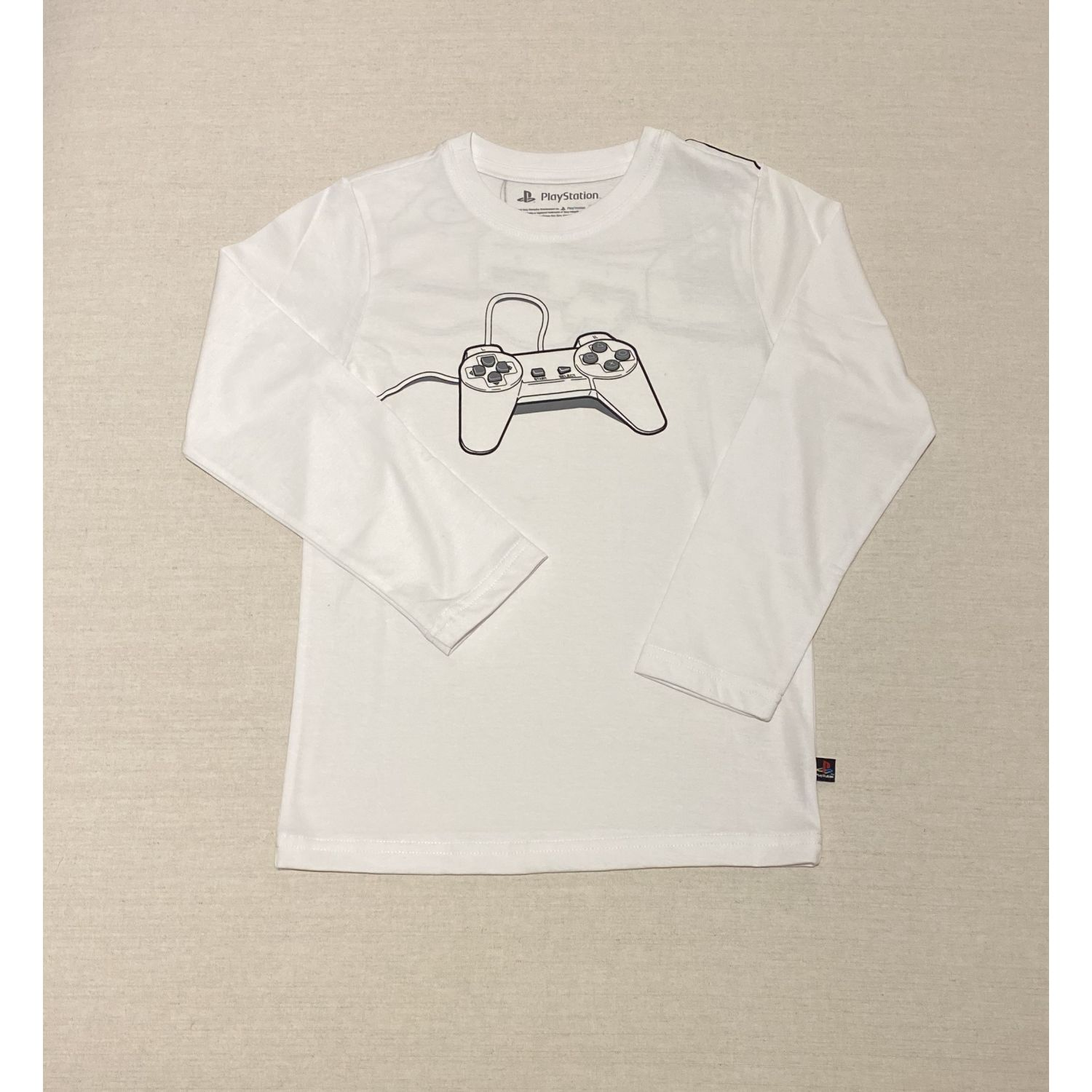 PLAY STATION Polo Manga Larga Mando Y Consola Blanco Tees