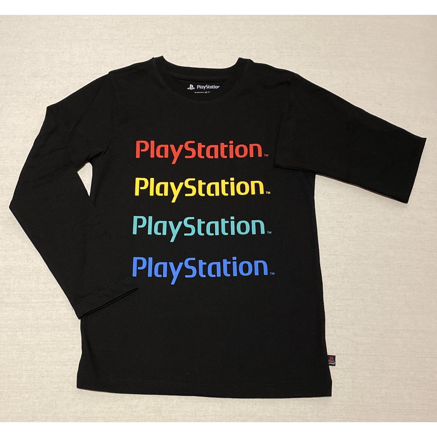 PLAY STATION POLO MANGA LARGA  BRANDING Negro Tees