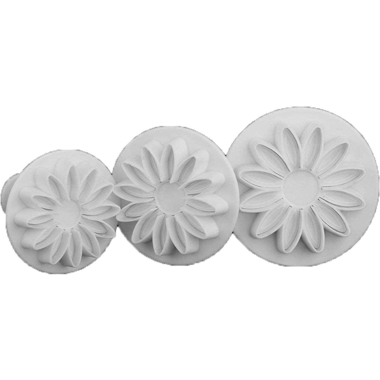 ICHIMATSU Molde Plastico Pp P/Galletas Por 3 Blanco Cortadores de galletas