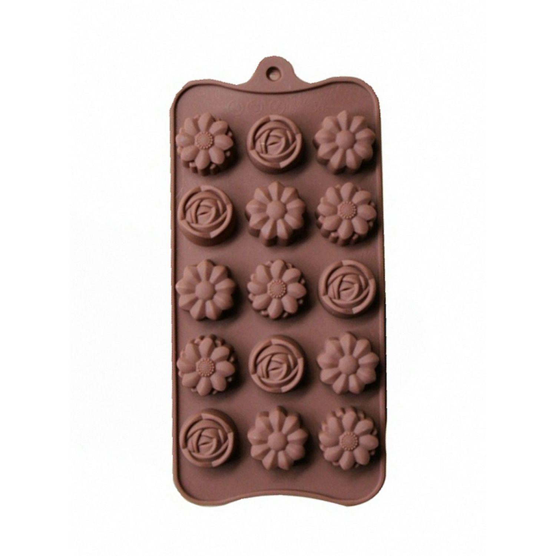 ICHIMATSU Molde Silicona P/Chocolate Forma Flor Marron Moldes para fabricar dulces, chocolates y fondant