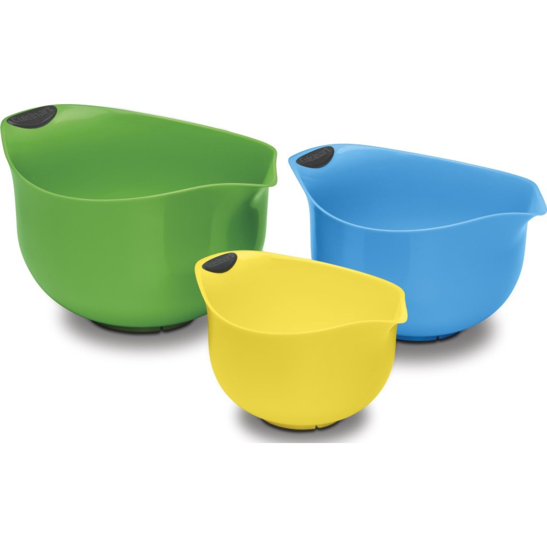 CUISINART Set de 3 Bowls VERDE / AZUL / AMARILLO Sirviendo ensalada Conjuntos