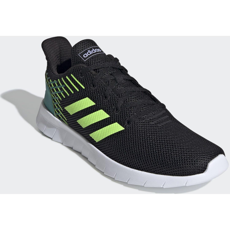 Adidas Asweerun Negro / verde Correr por carretera