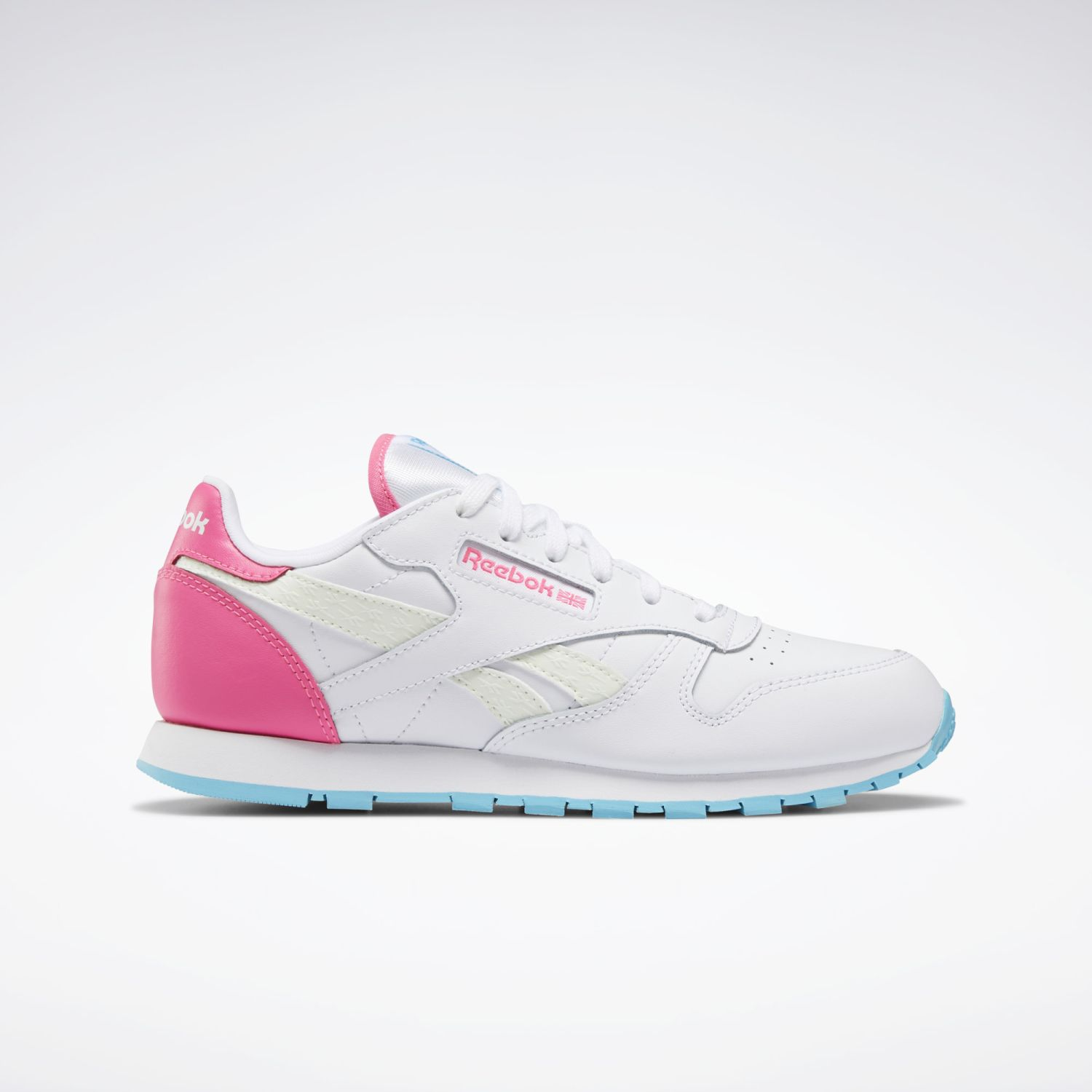 Adidas CLASSIC LEATHER Blanco / fucsia Walking