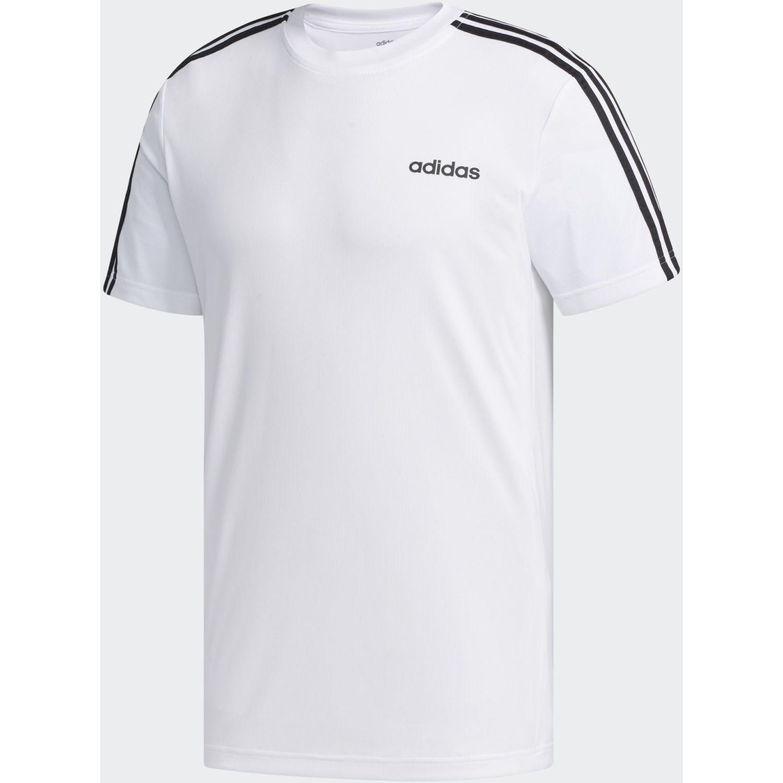 Adidas M D2m 3s Tee Blanco / negro Camisetas y Polos Deportivos