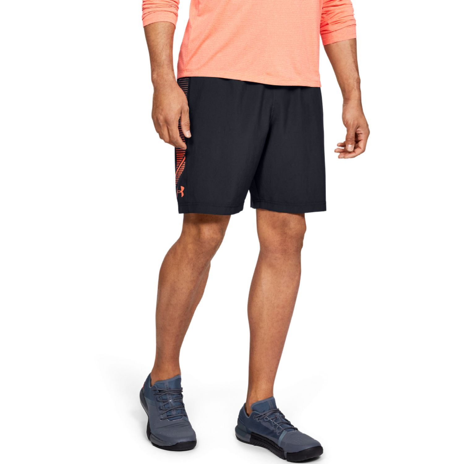 Under Armour Woven Graphic Short Azul / naranja Shorts deportivos