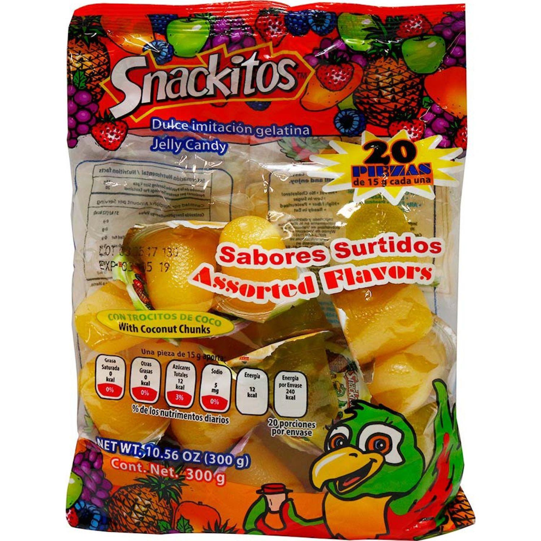 Snackitos Mini Gelatinas Sabores Surtidos X 20 Unidades Sin color Pudín de gelatina