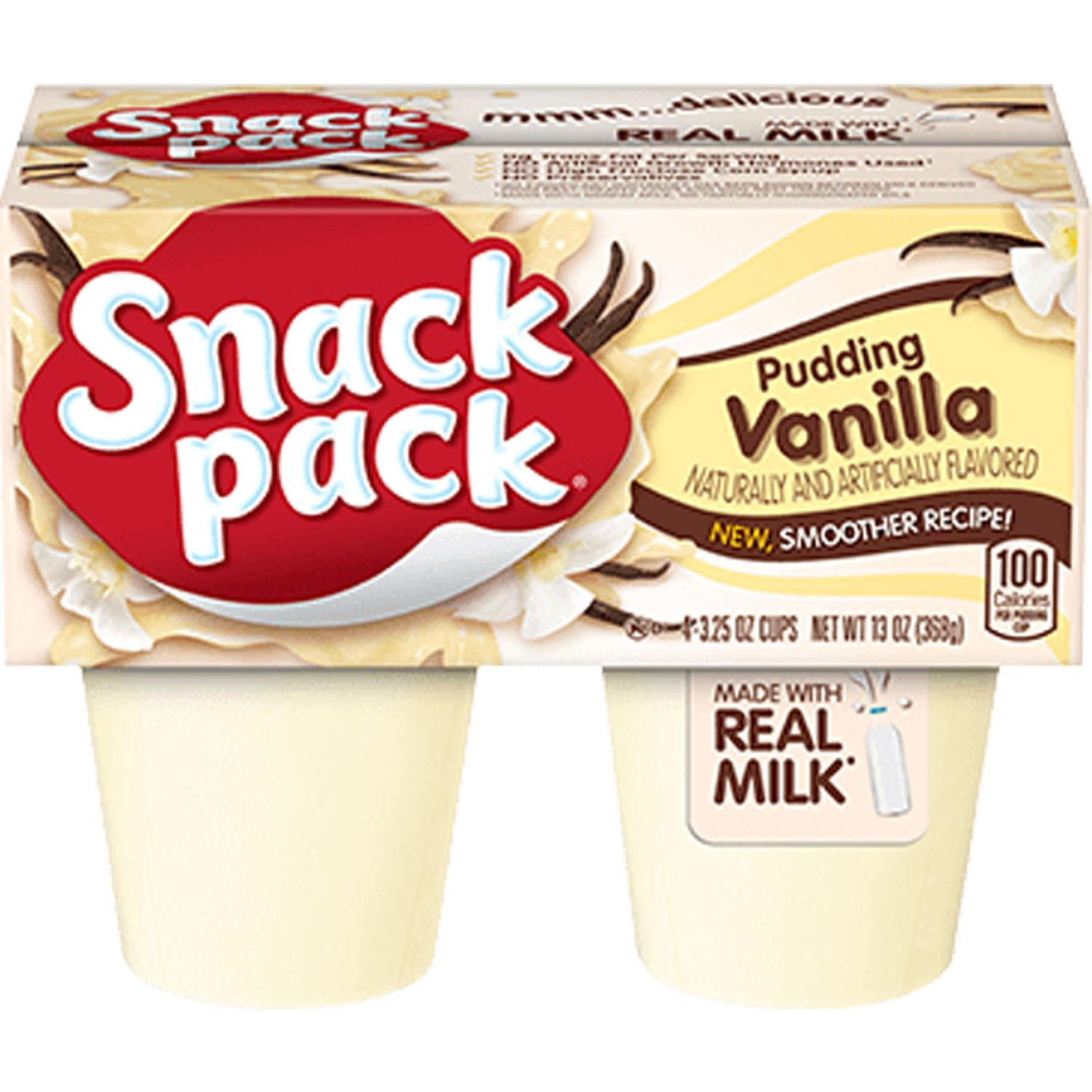 Snack Pack Pudin Vainilla 4-Pack Sin color Pudín