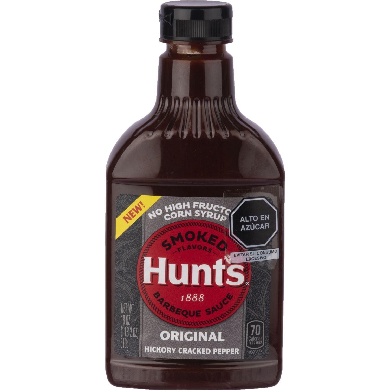 Hunt's Salsa Bbq Ah Hickory Crackd Pepprx18oz Sin color Parilla