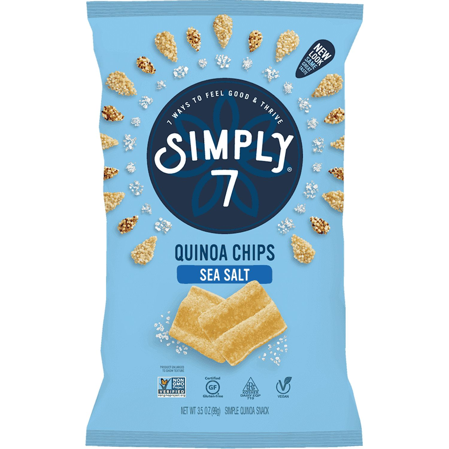 Simply 7 Snacks Quinoa Chips Sea Salt X 99g Sin color Soja