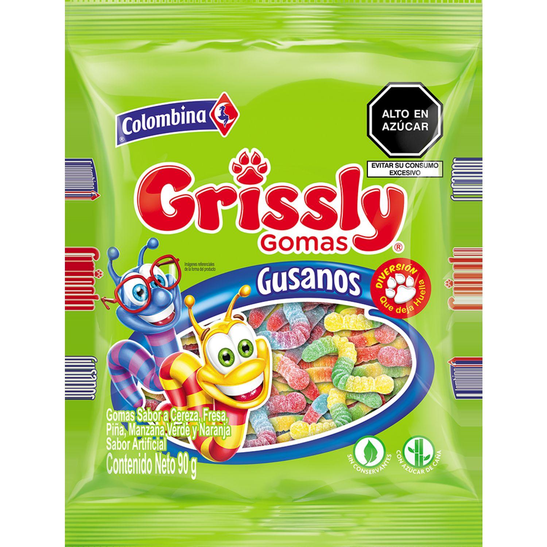 Grissly Gomas Gusanos X 90g Sin color Gomitas