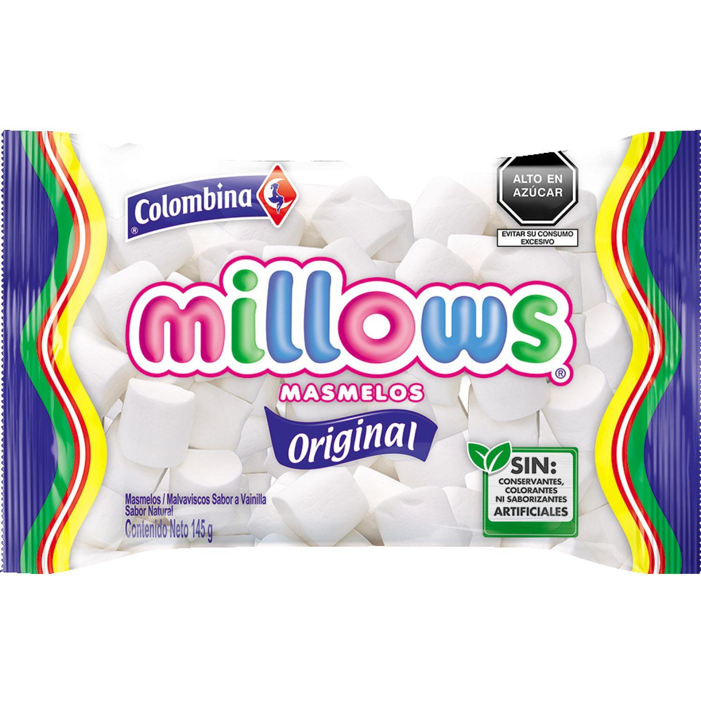 Millows Marshmallows Cilindro Blanco X 145g Sin color Marshmallows