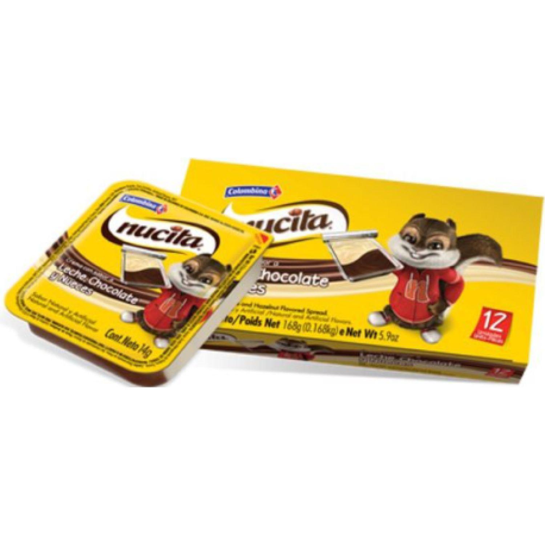 Nucita Crema Sabor A Leche, Chocolate Y Nueces X 12 Unid Sin color Fudge