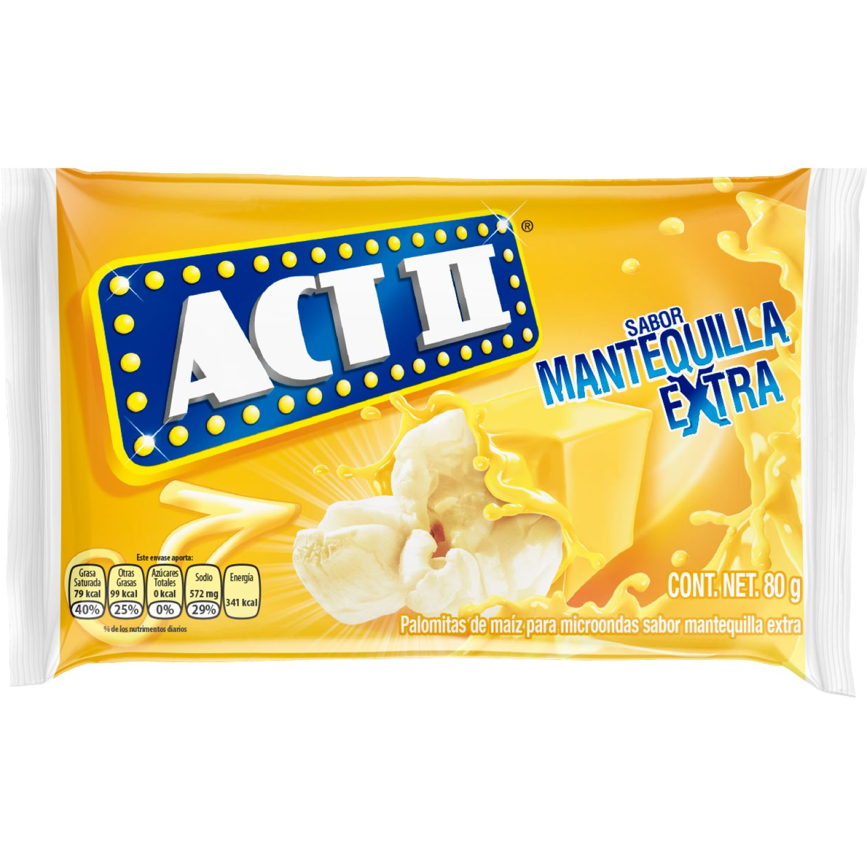 Act II Canchita Para Microondas Sabor Mantequilla Extra X 80g Sin color Microondas