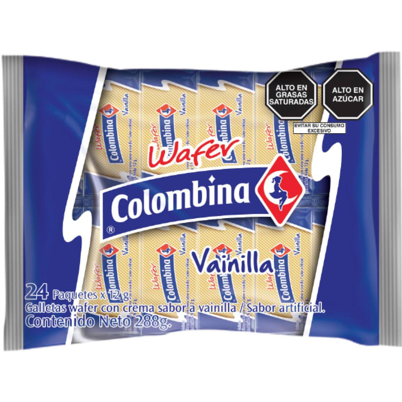 Colombina Wafer Sabor Vainilla X 24 Und Sin color Wafers