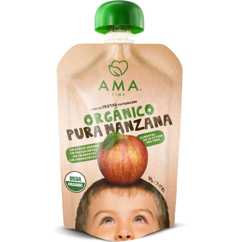 Ama Time Pure Organico Manzana X 90g Sin color Puré de manzana