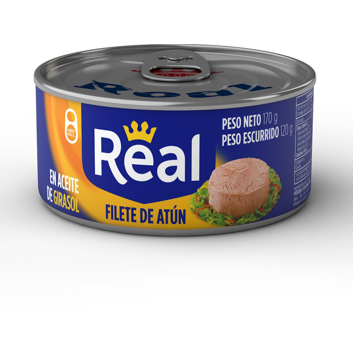 Real Filete De Atún Aceite De Girasol X 170g Sin color Atún