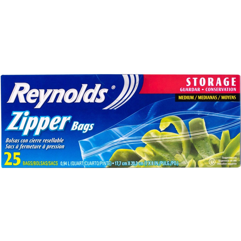Reynolds Bolsas Para Almacenar 25ct Sin color Bolsas de compras reutilizables