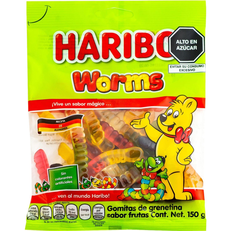 Haribo Gomas De Gelatina Worms 150g Sin color Gomitas