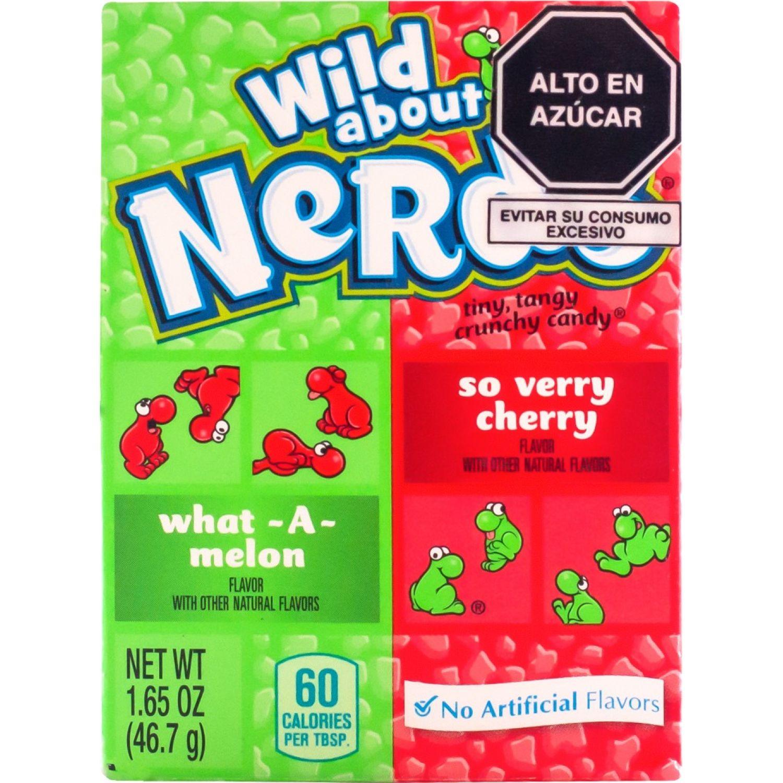 Nerds Watermelon/Cherry 46.7gr Sin color Surtidos de dulces y chocolate