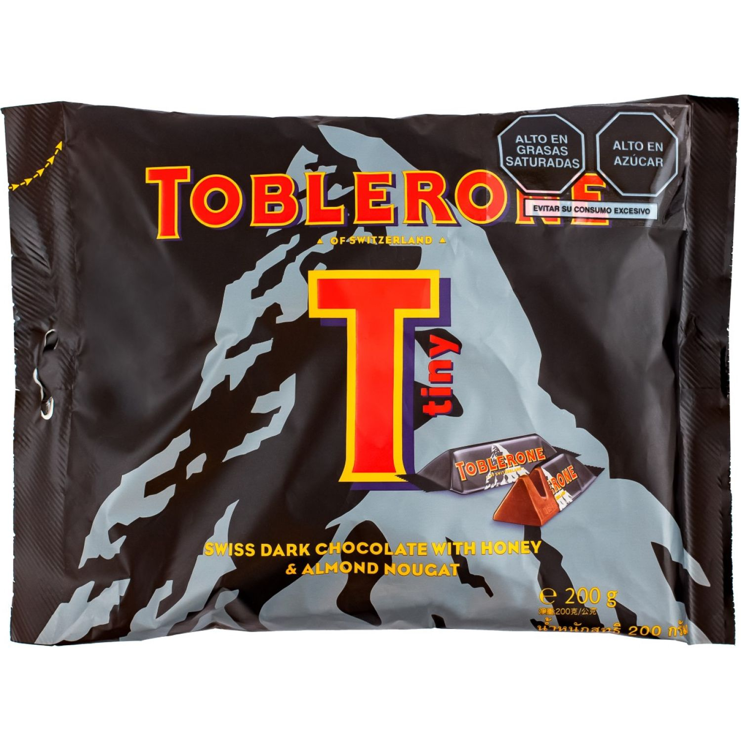 Toblerone Tiny Dark 200g Sin color Barras de caramelo y chocolate