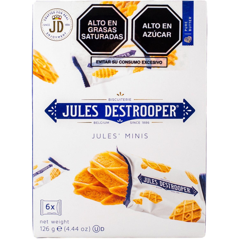 Jules Destrooper Pack Mixto Galletas Minis Cj 126gr Sin color Surtidos y samplers