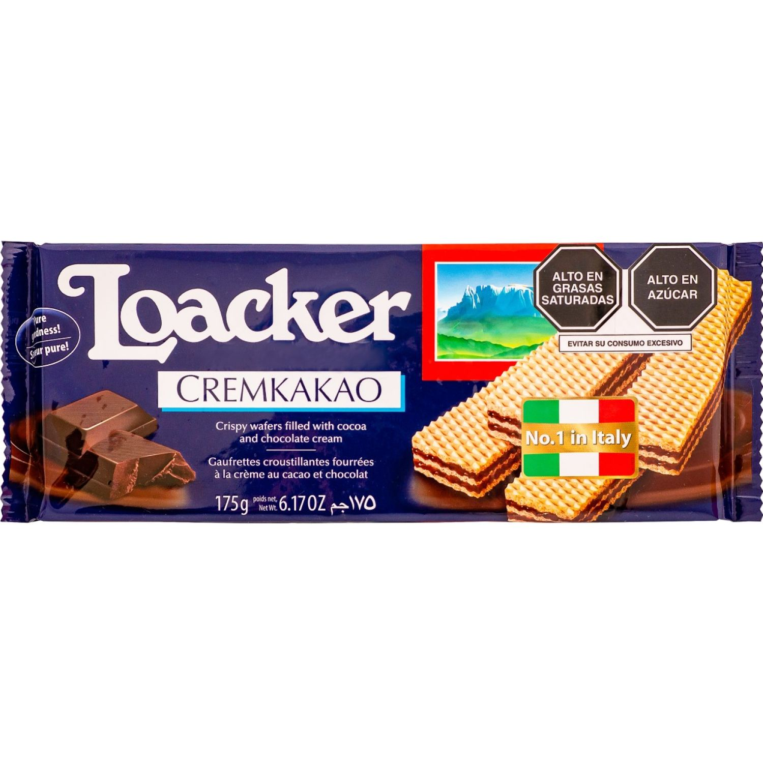 Loacker Waffer Classic Cremkakao 175gr Sin color Wafers