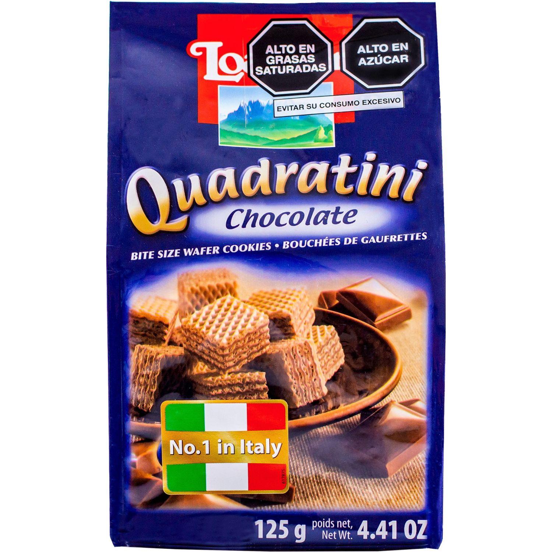 Loacker Loacker Quadratini Chocolate 125gr Sin color Wafers