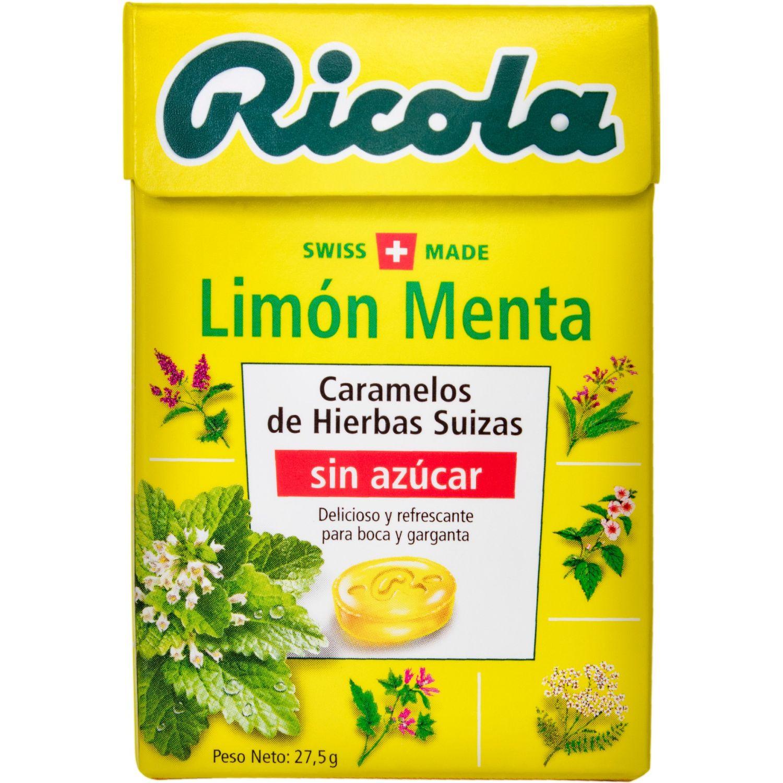 Ricola Limon Menta Sugar Free X 27.5grs Sin color Caramelo duro