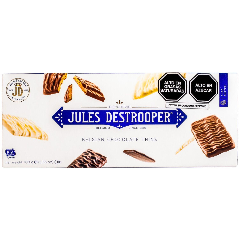 Jules Destrooper Galletas De Chocolate Cj 100gr Sin color Chocolate