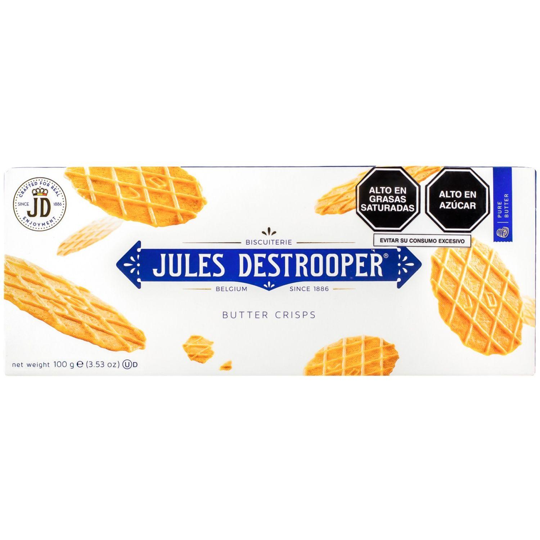 Jules Destrooper Galletas Crocantes De Mantequilla Cj 100gr Sin color Mantequilla
