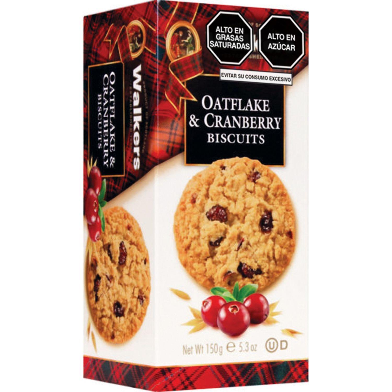 Walkers Oatflakes & Cranberry Cj 150gr Sin color Galletas de manteca