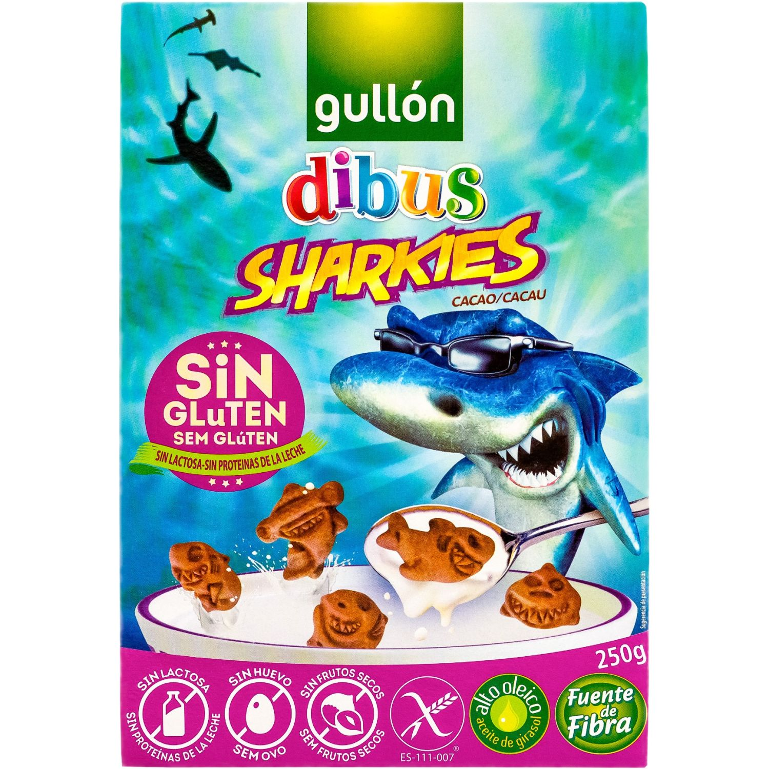 Gullón Galletas Sharkies Cacao Sin Gluten 250g Sin color
