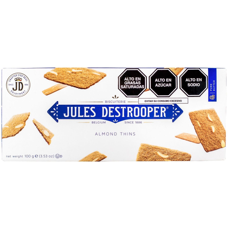 Jules Destrooper Galletas De Almedra Fina Cj 100gr Sin color Surtidos y samplers
