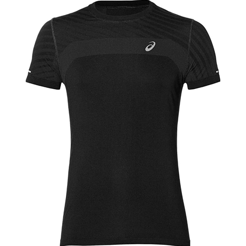 Asics M Seamless Ss Txtre Performance Blk Negro Camisetas y polos deportivos