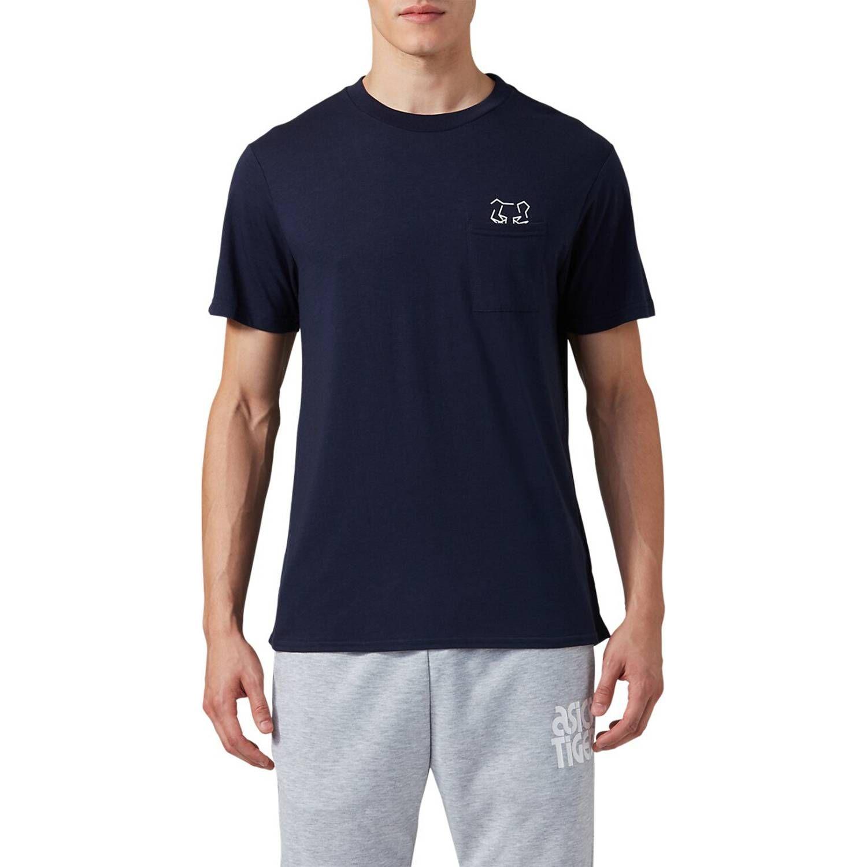 Asics Dt Pkt Ss Tee Midnight Azul Camisetas y Polos Deportivos