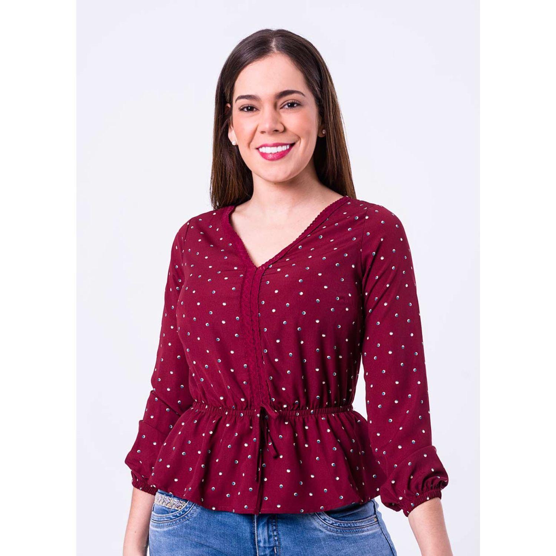 PIONIER Blusa Popelina M/L Jovencita Siney Vino Blusas y camisas con botones