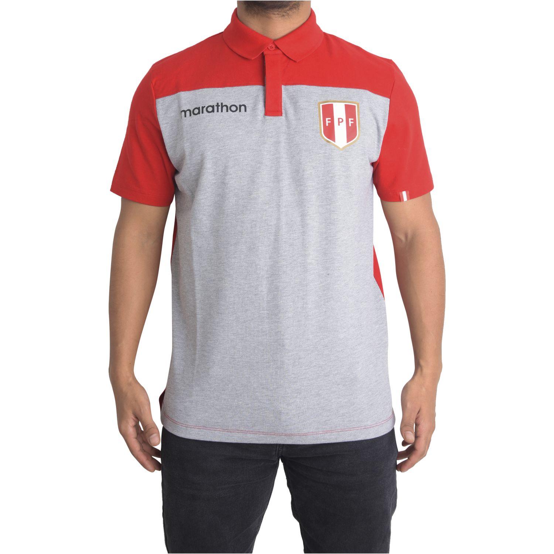Marathon Polo Fander Rojo / gris Camisetas y Polos Deportivos