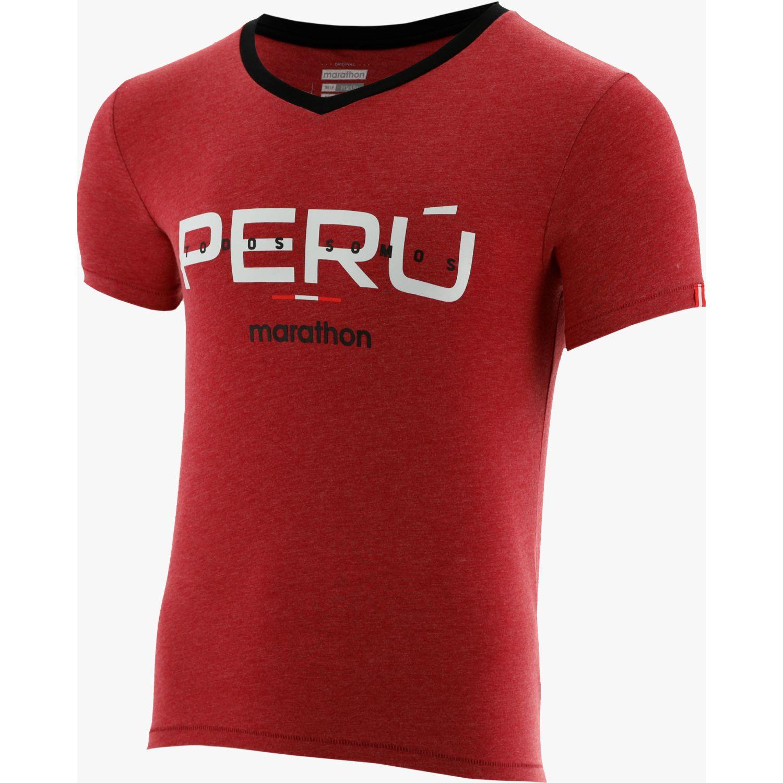Marathon Camiseta Manga Corta Realiz Rojo / negro Camisetas y Polos Deportivos