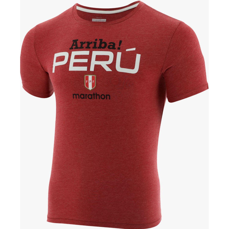 Marathon CAMISETA MANGA CORTA BALIUM Rojo / blanco Camisetas y Polos Deportivos