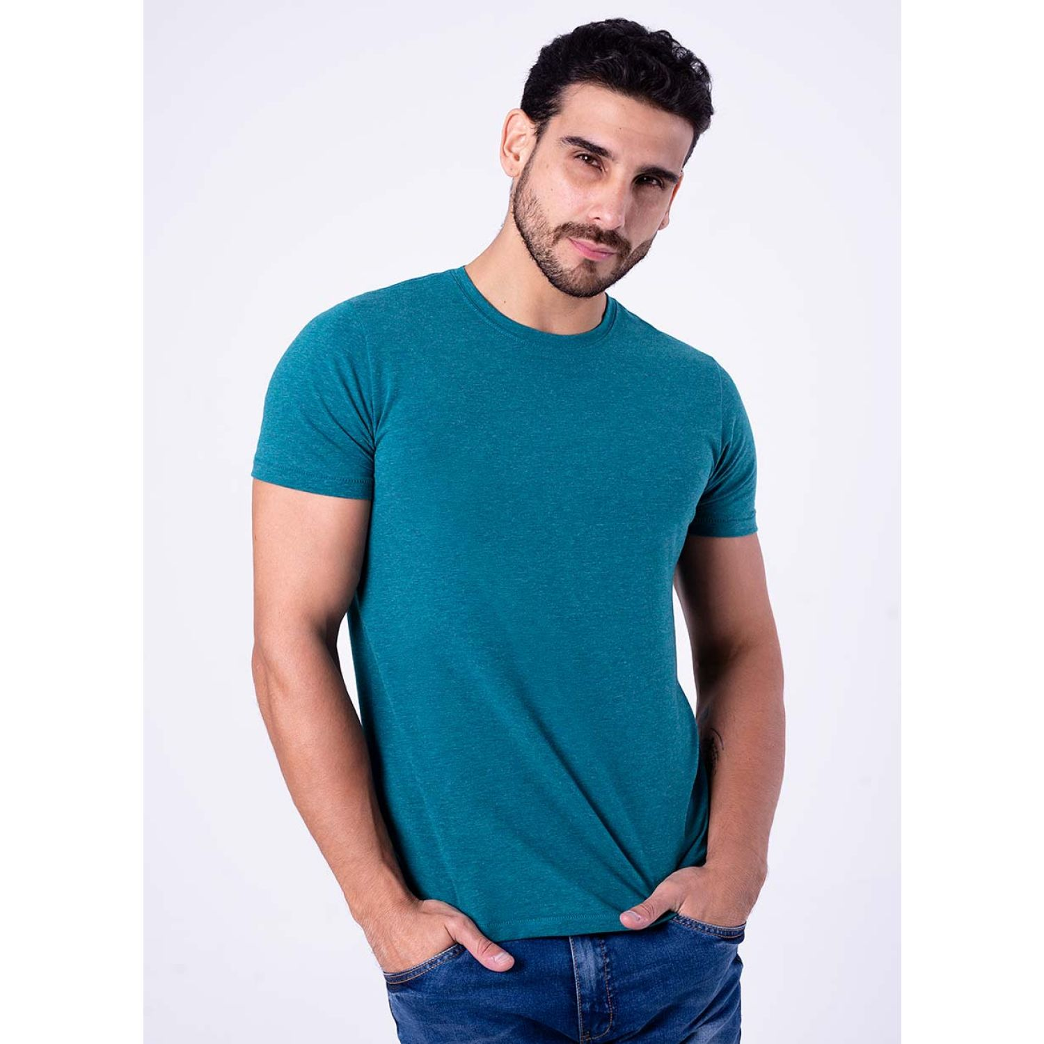 PIONIER Polo Jersey Lycra M/C Slim Fit Lucas DEEP TEAL Polos